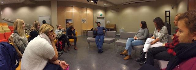 Ratan Kumar Samadder møter elever fra Globalt Perspektiv.
