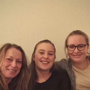 Fint med besøk av mor og søster før avreise. Foto: Tori Heitmann Jørgensen